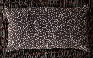 Úžitkový textil - FILKI šupkový vankúš na spanie 45 cm (tmavohnedý s béžovou) - 3559540