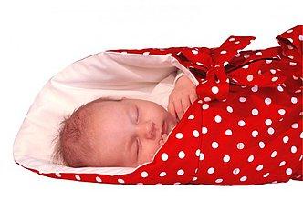 Textil - Perinka POLKA červená biele bod. UNI - 3568332