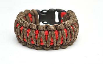 Náramky - Paracord Survival Bracelet   dvojitá kobra - 3570337