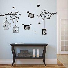 Dekorácie - 3410N nálepky na stenu Vtáčiky v konároch pre fotky 9x13cm - 3572424