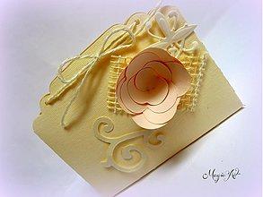 Darčeky pre svadobčanov - Krabička: Ruža s vôňou ivory - 3573588