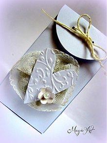 Darčeky pre svadobčanov - Krabička: Zaľúbene srdiečko - 3573667
