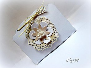 Darčeky pre svadobčanov - Krabička: Biela neha - 3573675
