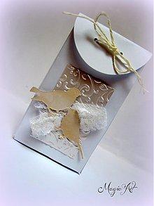 Darčeky pre svadobčanov - Krabička: Párik holúbkov - 3573679