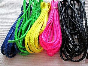 Suroviny - AKCIA !!! Pletená koža, rôzne farby, NEON, 10mm / 25 cm - 3574945