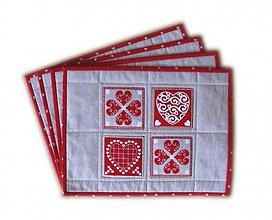 Úžitkový textil - Prestieranie srdiečkové - 3576451