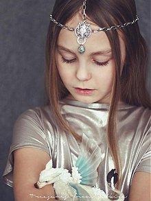 Ozdoby do vlasov - vlčí tiara s coated labradoritem - 3580187