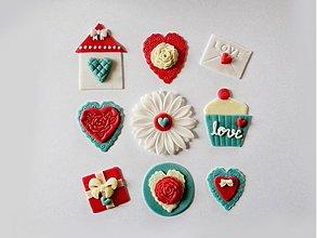Drobnosti - Valentínsky setík na muffiny (9 diel.sada) - 3580397