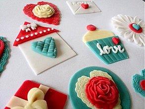 Drobnosti - Valentínsky setík na muffiny (9 diel.sada) - 3580399