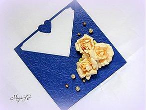 Papiernictvo - Ruže v mesačnom svite... - 3582229