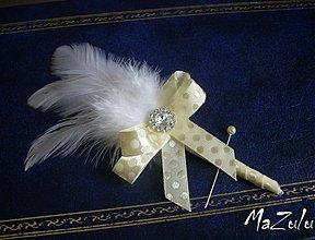 Pierka - puntíkaté svadobné pierka pre rodičov I. - 3583768