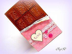 Papiernictvo - Čokoládku ľúbim, ale Teba viac! - 3584106