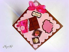 Papiernictvo - Ženská krása je ako čokoláda! Neodolateľná! :) - 3584370