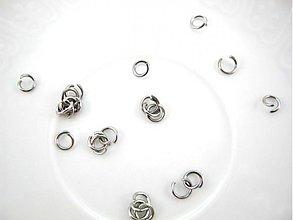 Komponenty - Spoj.krúžky 5x0,8mm /M1277/ - chir.oceľ 316L - 3584474