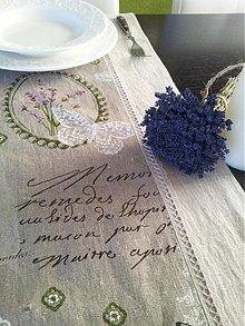 Úžitkový textil - Ľanová štóla Provence - 3585136