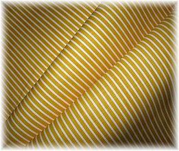 Textil - bavlněná látka-žlutý proužek - 3585668