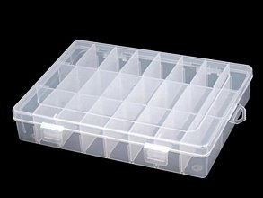 Iný materiál - Plastový zásobník 20x14x4 cm (1 ks) - 3586506