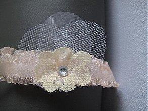 Bielizeň/Plavky - Nežný svadobný podväzok - 3594066