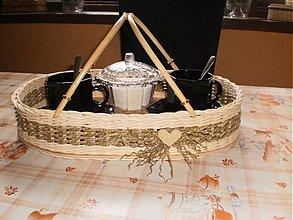 Košíky - Podnos na kávičku s rúčkami - 3595055