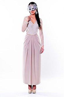 Šaty - Elastické spoločenské šaty s krajkov rôzne farby - 3595575