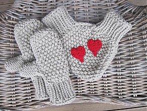 Rukavice - zamilované rukavičky - bledohnedé - 3601401