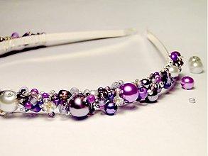 Ozdoby do vlasov - Violet & Silver - 3602169