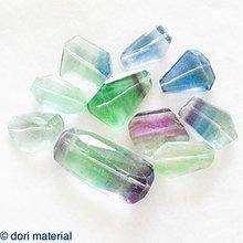 Minerály - fluoritové nugety 22 x 18 x 7 mm - 3604708