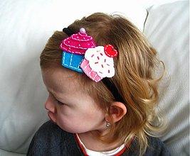 Ozdoby do vlasov - Celenka s muffinkami - 360483