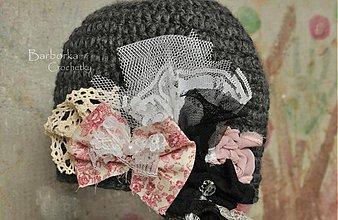 Detské čiapky - siva - 3607192