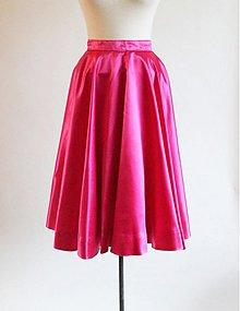 Sukne - Cyklaménová sukňa - 3607498