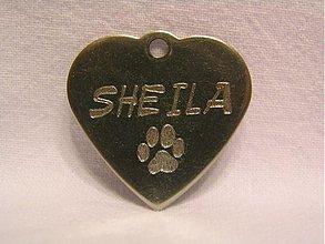Pre zvieratká - Gravírované známky pre našich domácich miláčikov - 3611656