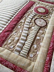 Úžitkový textil - V krajine zázrakov...bordó-hnedá verzia -vankúše :) - 3612010