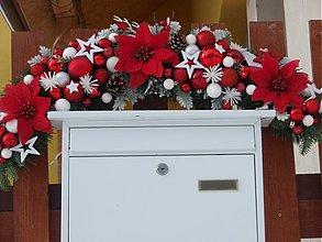 Dekorácie - Červeno - biely oblúk na bránu - 3612832