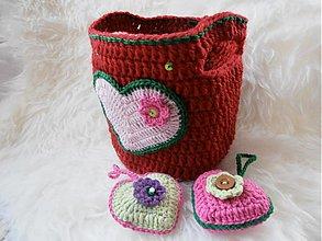 Taštičky - Košík alebo aj kabelka pre malé dievčatká - 3612887
