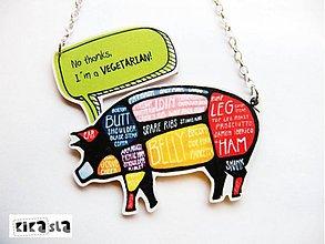 Náhrdelníky - Som hrdý vegetarián - 3613580
