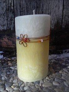 Svietidlá a sviečky - kvetinkový pomaranč - 3614067