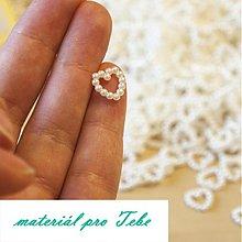 Galantéria - perlové srdiečko - svadba - 50 ks - 3619304