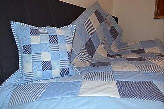 Úžitkový textil - patchwork deka 140x200 alebo 220x220 a vankúš za super cenu - 3620238