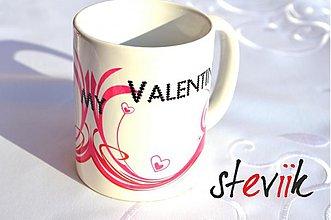 Nádoby - Hrnček - Be My Valentine - 3621615