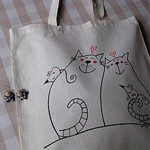 Veľké tašky - KOČKY, SAMÉ KOČKY - nákupní taška - 3622143