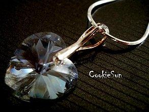 Náhrdelníky - Prívesok Swarovski Heart Moonlight - 3622446