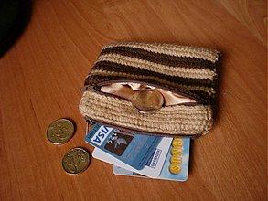 Peňaženky - Peňaženka - hnedo-karamelová - 3622479