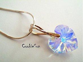 Náhrdelníky - Náušnice Swarovski Heart Crystal AB - 3622752