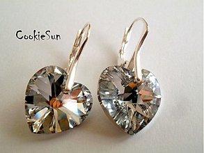 Náušnice - Náušnice Swarovski Heart Crystal CAL - 3623808