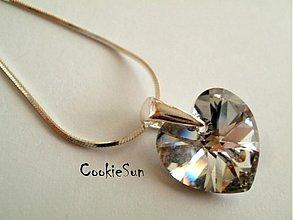 Náhrdelníky - Prívesok Swarovski Heart Crystal CAL - 3623820