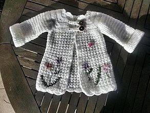 Detské oblečenie - Háčkovany svetrík. ..naty 2. - 3628605