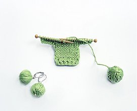 Odznaky/Brošne - Brošňa Milujem pletenie - 3631533