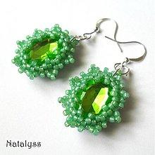Náušnice - Zelené - 3635756