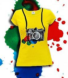 Tričká - farebné - old camera - 3636243