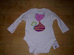 Detské oblečenie - mačičkove body - 3636557
